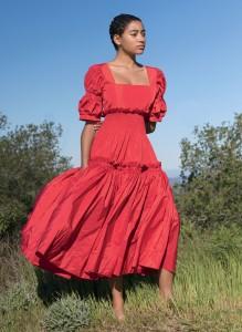 red maxi field dress amandla