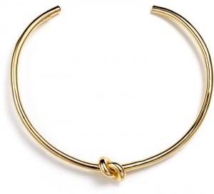 gold bangle knot
