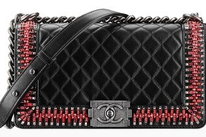 black red quilted bag chanel mens