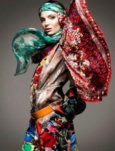 multi color scarves