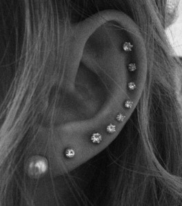 diamond cartilage piercings