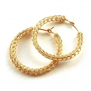 vintage hoop earrings gold