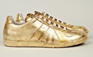 gold sneakers platform