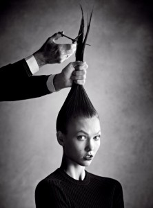 karlie kloss cutting hair