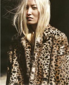 model fur coat