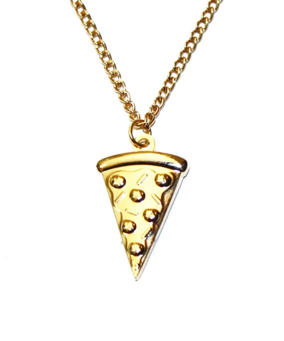Pizza Necklace.CurrentlyObsessed