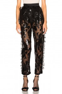black sequin pants