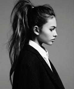girl ponytail collar