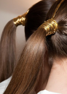 hair foil ponytail