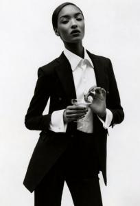 model tuxedo black and white