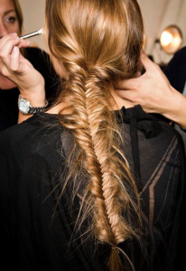 long blonde braid hair