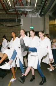 models backstage fashion runway