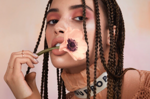 roses cheek makeup beauty
