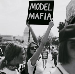 model mafia protest
