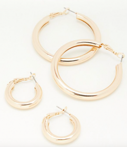gold free people hoops
