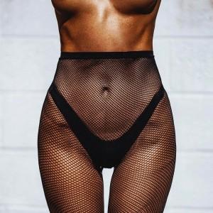 black transparent lingerie