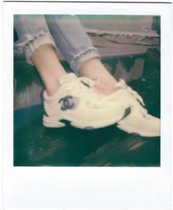 chanel sneakers sydney carlson polaroid
