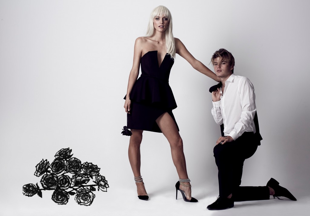 Luci Taffs - Jordan Barret - Wicked Game - Roses and Black Dress