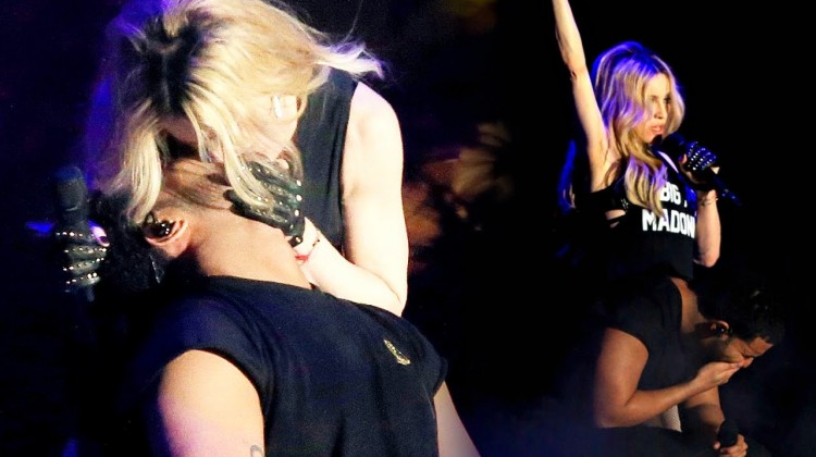 madonna kissing drake at coachella