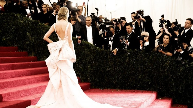 model at the met ball