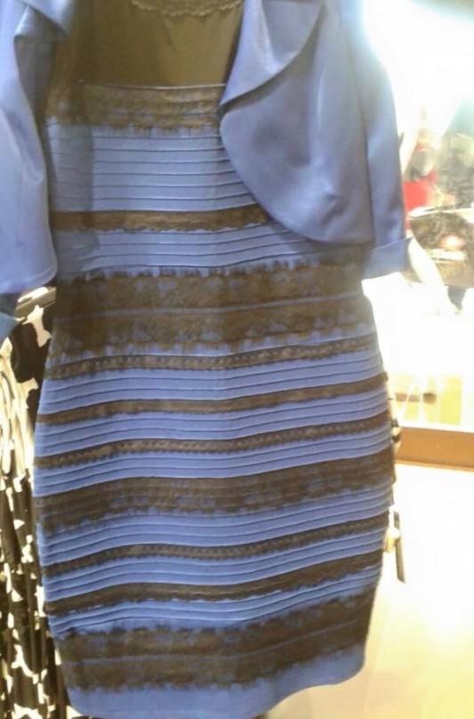 white gold dress