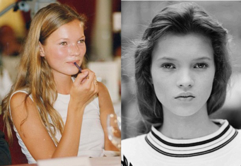 young kate moss