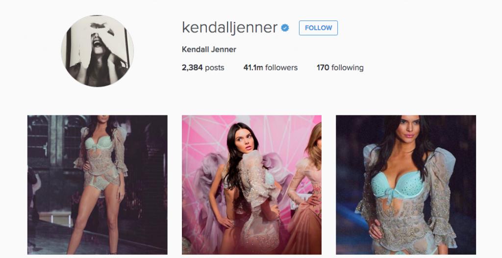 model instagram account