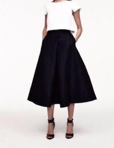 crop top a line skirt