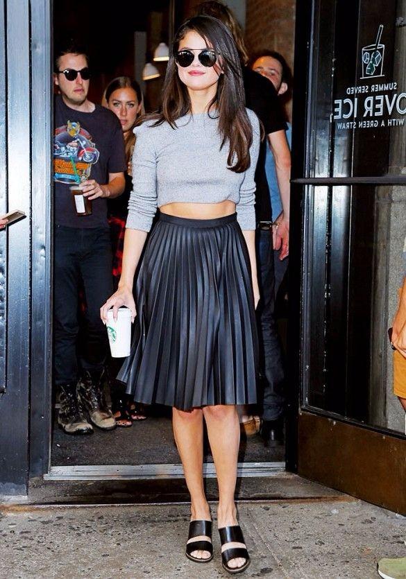 selena black skirt