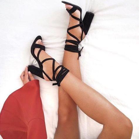 black heels, comfy heels, strappy heels