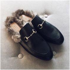 gucci fur shoes