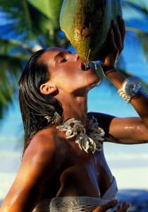 coconut water, model secret, model tips
