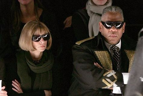 andre leon talley and anna wintour, anna wintour, amfam, fashion royalty