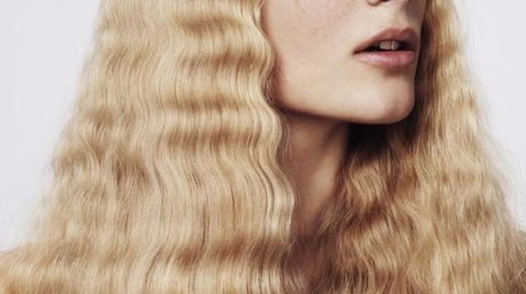 damaged hair, blonde hair, crimped hair,