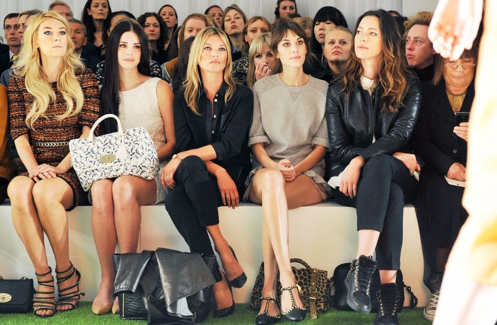 mbfw front row, front row fashion week, front row celebrities fashion week, mbfw front row, all my friends are models