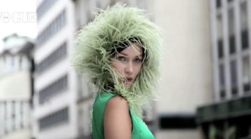 green model cover fluffy feathers