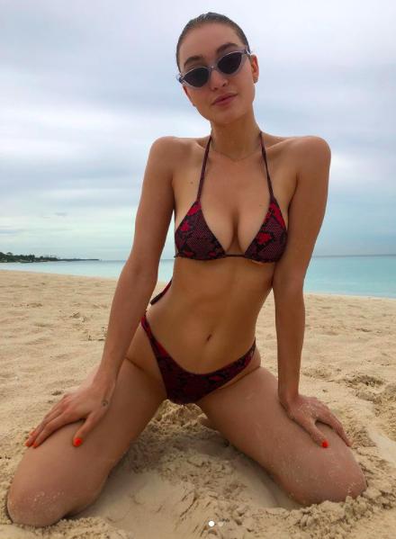 Audrey Hilfiger in Nassau, Bahamas